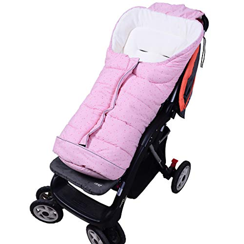 Baby Schlafsack 3 Tog, Kinderwagen Schlafsack Neugeborenen Fußsack 6-36 Monate, Groß-Rosa