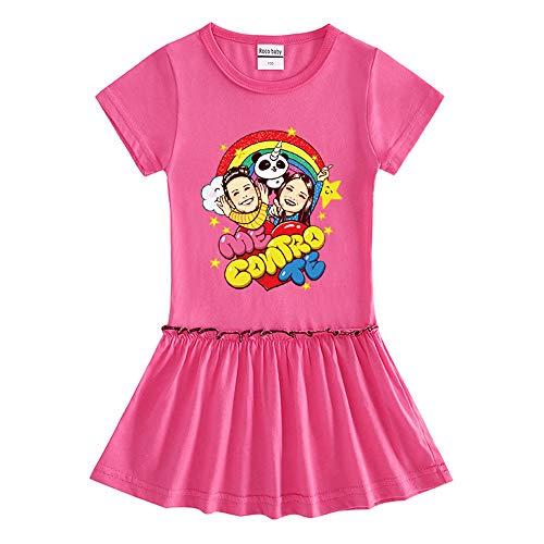 O&K Robe New Girl Manches Courtes bébé Princesse Jupe Populaires Sweat Top Vêtements,Rouge,110cm