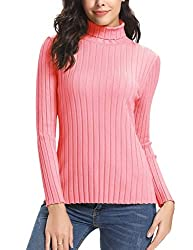 Chunky top sweater jumper features long sleeve,slim fit knitwear tops,special design in jumpers hems,thick fabric great for autumn and winter;Plain chunky top sweater turtle roll neck jumpers,it is stretchy and warm enough to keep warm on cold days W...