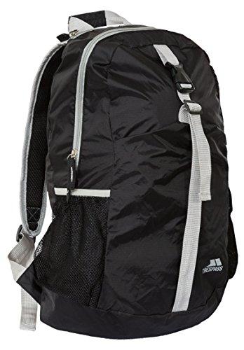 Trespass Unisexe Canguro Compressible Sac à Dos randonnée et Camping Sac à Dos, Noir