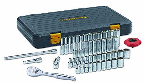 GEARWRENCH 51 Pc. 1/4' Drive 6 Pt. 120XP Mechanics Tool Set, Standard & Deep, SAE/Metric - 80300P