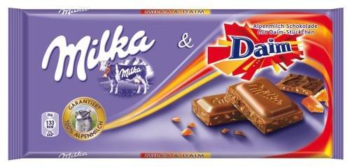 Milka&Daim Alpenmilch, 20er Pack (20x 100g Packung)