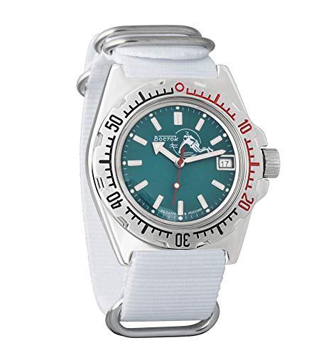 Vostok Amphibian Scuba Dude Reloj de pulsera automático para hombre, cuerda automática, reloj de pulsera militar de buceo Amphibia #110059