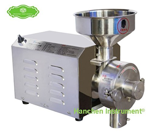 Best Prices! Hanchen Commercial High Efficiency Grain Grinder,Herb/Spice/Corn/Soybean Grinding Machi...