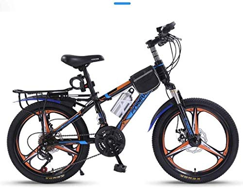GUOCAO 20Inch Variable Speed Mountain Bike 21 Speed Comfortable Saddle, Nonslip Pedal, Suspension Fork, Safe and Sensitive Brake, Children's Bicycle Folding Bike (Color : Blue, Size : A)