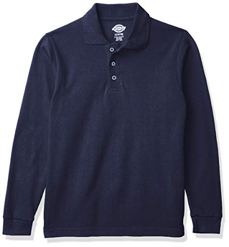 Dickies Jungen Boy's Long Sleeve Pique Polo Poloshirt, Night Navy, Klein