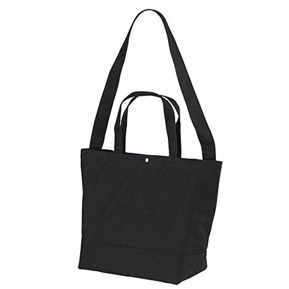 手を差し伸べる縞模様の代替帆布製綿キャンパスコットンスイッチングトートバッグ2WAY ブラック ds-1657541