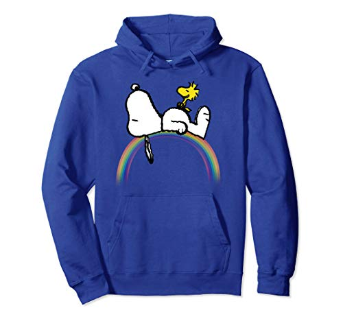 Erdnüsse Snoopy Woodstock Regenbogen Pullover Hoodie