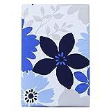 プリント 掛け布団カバー 花柄 シングルロングサイズ 347631-E343