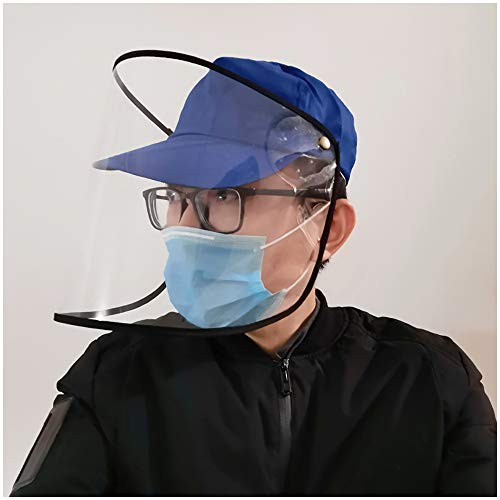 Anti-Spucken Schutz Mütze Baseball-Mütze Unisex Schutz Hut mit transparentem Gesichtsschutz Staubdichtes windundurchlässiges Sand Windschutzscheibe Hut für Erwachsene, Frauen, Männer,D