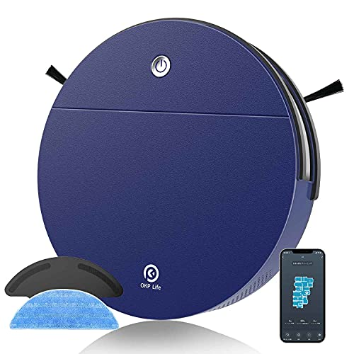OKP Robot Vacuum Cleaner, 2 in 1 Robot Vacuum and Mop with 2000pa Strong Suction,WiFi-Connected…