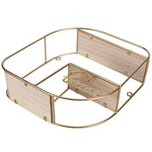 Estantes de pared flotantes, estantes flotantes para pared, cesta de almacenamiento nórdica de moda, organizador de estantes de madera y hierro para artículos domésticos, dormitorio, sala