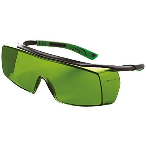 Univet 5X7.01.11.17 Überbrille 5X7 IR1.7 Glas in dunkelgrau/grün