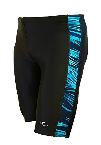 Adoretex Boy s Men s Sunfire Spice Swim Jammers Swimsuit (MJ006) - Black Blue2-28