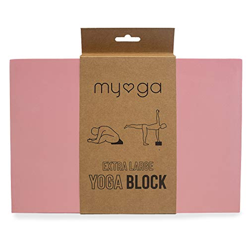 Myga Large Foam Block Dusty Pink-Bloque de Yoga de Espuma Extra Grande, Unisex, Rosa Polvoriento