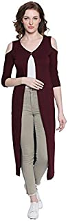 The Dry State Women's Boat Neck Shrug (G1534_Brown_X-Large)