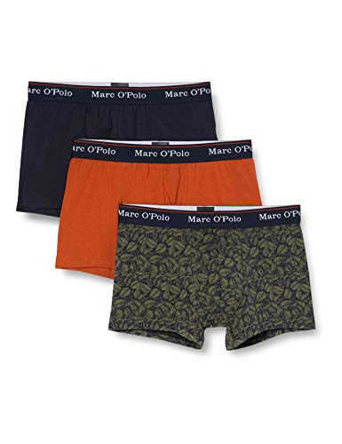 Marc O'Polo Body & Beach Herren Multipack M-Shorts 3-Pack Retroshorts, Braun (rost), L