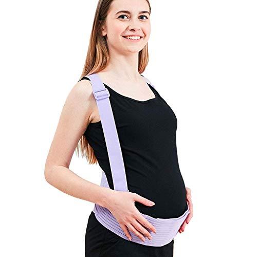 DONGBALA Cinturón De Soporte para El Embarazo, Apoyo para Pelvis Banda Estomacal Ajustable Cuna Prenatal para Bebe con Correas De Hombro Adecuado para Uso Prenatal,Purple,M