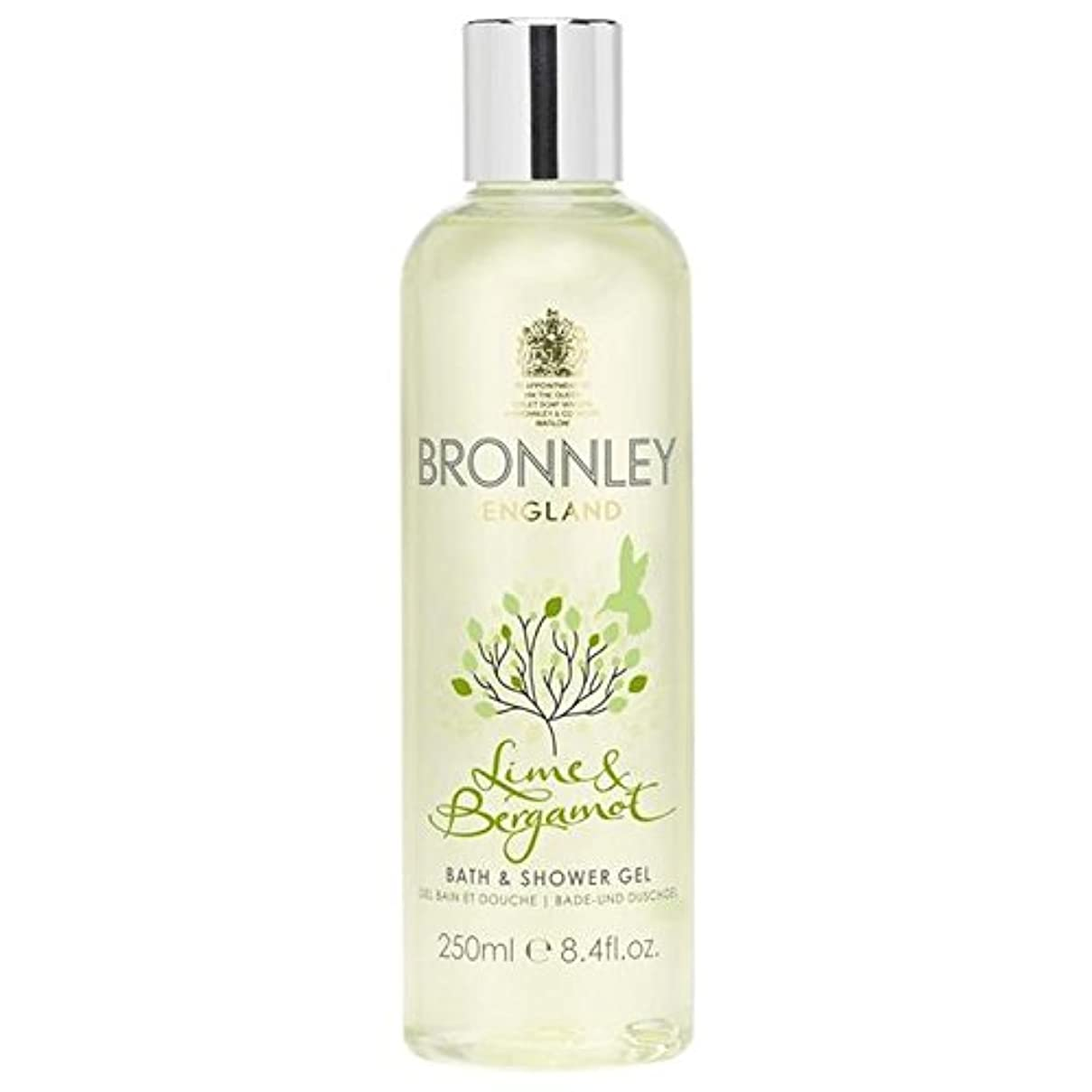 ダースダム障害ライム&ベルガモットバス&シャワージェル250ミリリットル x4 - Bronnley Lime & Bergamot Bath & Shower Gel 250ml (Pack of 4) [並行輸入品]
