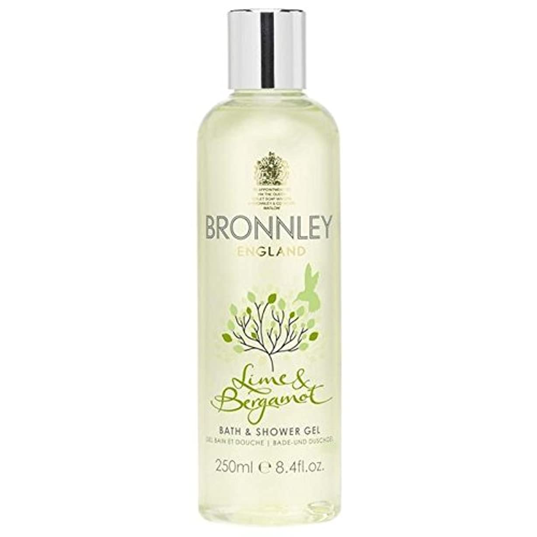 Bronnley Lime & Bergamot Bath & Shower Gel 250ml - ライム&ベルガモットバス&シャワージェル250ミリリットル [並行輸入品]