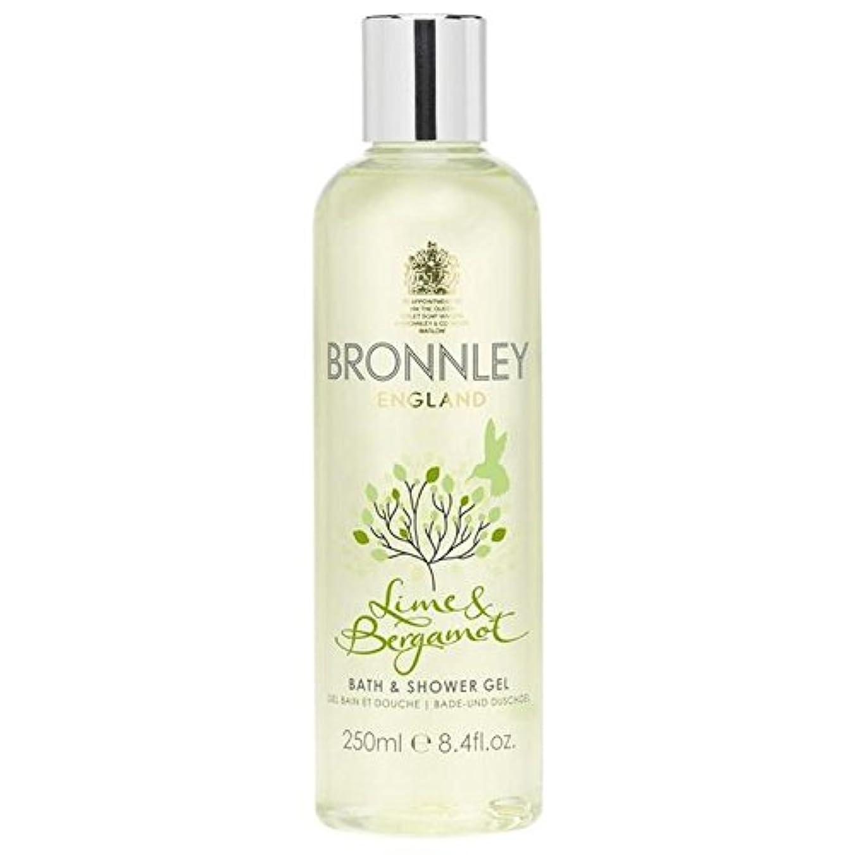 矩形現代の性差別Bronnley Lime & Bergamot Bath & Shower Gel 250ml - ライム&ベルガモットバス&シャワージェル250ミリリットル [並行輸入品]