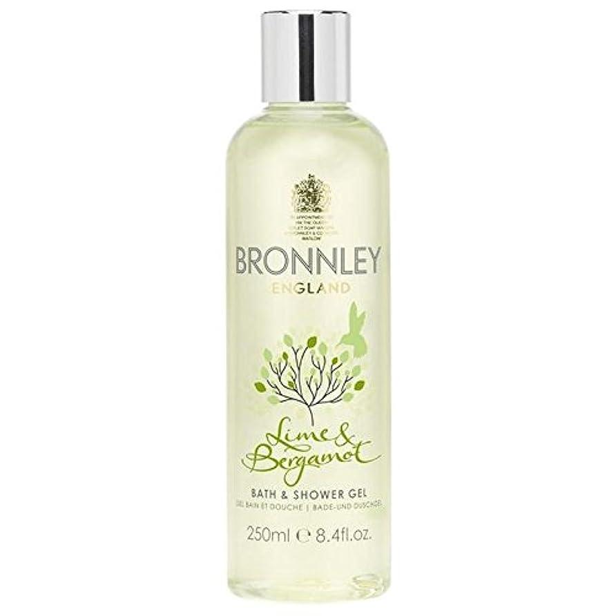 致命的同様にまっすぐライム&ベルガモットバス&シャワージェル250ミリリットル x4 - Bronnley Lime & Bergamot Bath & Shower Gel 250ml (Pack of 4) [並行輸入品]