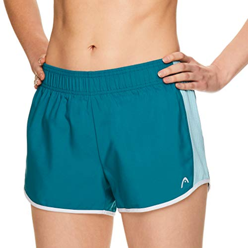 HEAD Women's Athletic Workout Shorts - Tennis Gym Training & Running Short - Ally Crystal Teal, X-Large