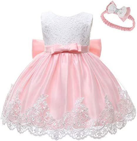 LZH Baby Dress Girls Formal Bowknot Birthday Party Tutu Flower Dress with Headwear product image