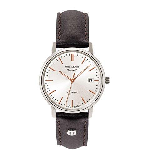 Bruno Söhnle Herren Analog Automatik Uhr mit Leder Armband 17-12174-245