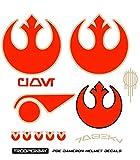 Trooperbay Poe Dameron Resistance X-Wing Pilot Helmet Decals Stickers Disney Star Wars Armor The Last Jedi