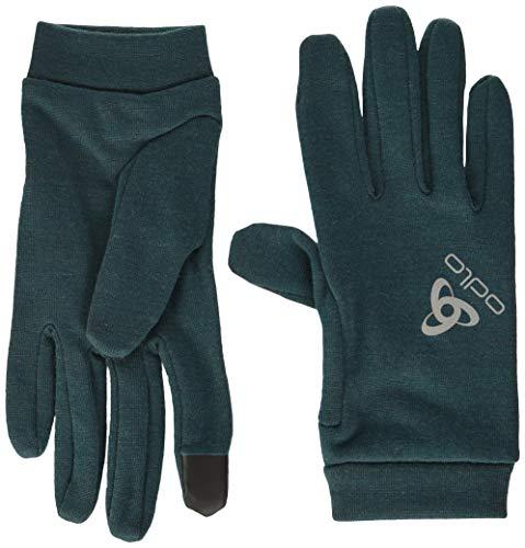 Odlo Gloves Natural+ Warm-Atlantic Deep, Accessoires Mixte Adulte, Adulte Mixte, 761100-40282, Atlantic Deep, XXS