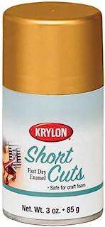 Krylon KSCS029 Short Cuts Aerosol Spray Paint, Gold Leaf, 3 Ounce