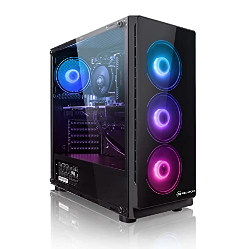PC Gaming - Megaport Ordenador Gaming PC AMD Ryzen 5 3500X 6x4.10GHz Turbo • GeForce GTX1660 6GB • 1000GB HDD • 240GB SSD • 16GB RAM • WLAN • Windows 10 • PC Gamer • Ordenador de sobremesa