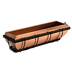 H Potter Copper Window Box Gar134 - Best Iron Window Boxes