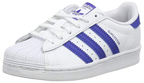 adidas Superstar C, Scarpe da Ginnastica, Ftwr White/Team Royal Blue/Ftwr White, 31 EU