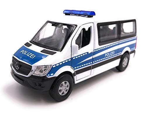 H-Customs Welly Mercedes Benz Sprinter Polizei Modellauto Auto Lizenzprodukt 1:34-1:39