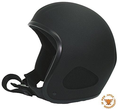 CLASSIC TITAN -Jet Helm schwarzmatt (XL-58/59cm Stirnumfang) Biker Helm Chopper Ski Harley Quad Jethelm