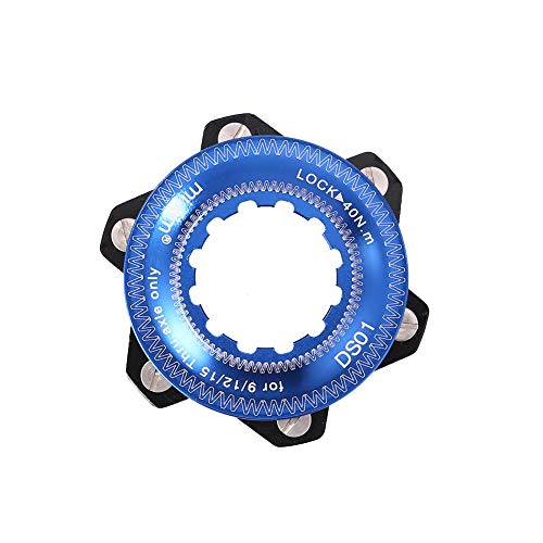 WILAIN Centerlock an 6-Loch-Naben-Disc-Center-Sperren-Umwandlung Fahrradbremsadapter für 6 Bolzenrotoren (Farbe :...