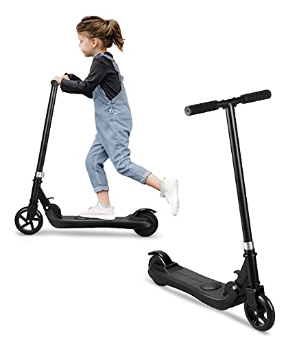 Riding' times Patinete eléctrico para niños, Scooter Plegable, hasta 6km/h, 5km, Motor 120W, Tiempo de Carga 2H, para niños y niñas de 5 a 12 años