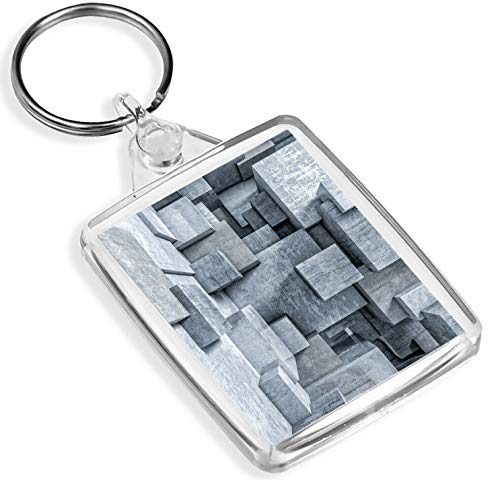 Llavero de construcción de cubos de hormigón IP02 – Diseño de arquitecto 3D regalo genial #...
