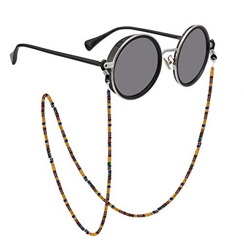 Cadena de gafas para mujer, estilo bohemio, retro, cuadrado, acrílico, con cuentas, cadena de gafas, collar para adultos y hombres