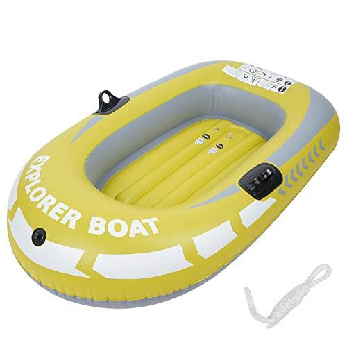 Great Price! HGFDSA Inflatable Kayak, 1-2 People Collapsible PVC Thickened Rowing Boat Fishing Boat ...
