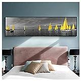 GIRDSS Sea Yellow Boat Bridge Tower Poster und Drucke