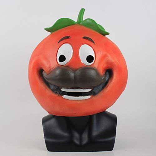 RaOn Maske Cosplay Lustige Tomate Maske Melting Gesicht Latex-Kostüm-Halloween-Maske Scary Spielzeug Halloween-Dekoration-Partei