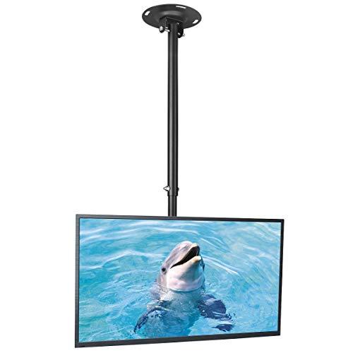 Suptek TV Deckenhalterung Für 26-50 Zoll LCD LED Plasma Flachbildschirme höhenverstellbar mit Neigungs und Schwenkbewegung MC4602