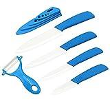 EwigYou - Juego de 4 cuchillos de cerámica y 1 pelador