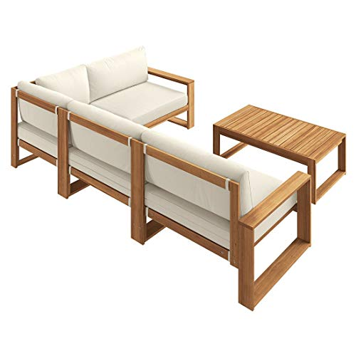 OUTLIV. Loungemöbel Holz Santa Cruz Loungemöbel Outdoor 5-teilig Akazie Teaklook Gartenlounge Loungegruppe - 2