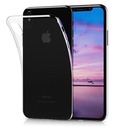 kwmobile Funda para Apple iPhone X / XS - Carcasa protectora de [TPU] para móvil - Cover [trasero] en [transparente]