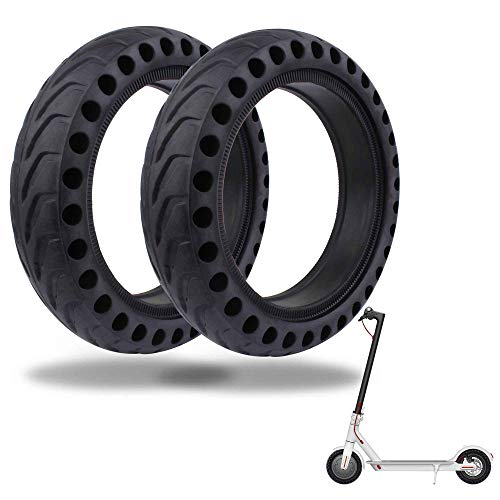 TOMALL Honeycomb Rubber Damping Solid Tire 8.5 Inch Front/Rear Tire Wheel Replacement for Xiaomi M365 Electric Scooter 2PCS