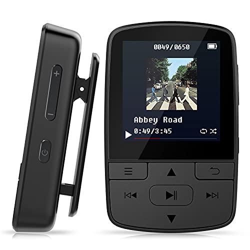 Lettore MP3 Bluetooth 5.0 Clip 8GB MP3 Player Radio FM per Sport e Corsa, sostegno USB TF Fino alla Carta di 128GB M3